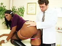 ebony milf gets fucked by doctor
