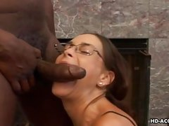 slutty mom sucks thick black cock with big pleasure