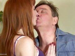 mature redhead blowjob