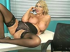 Hot MILF Leigh Darby being filthy in office