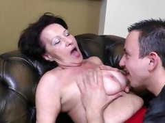 huge saggy mature tits
